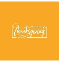 Happy Thanksgiving Day with vector image