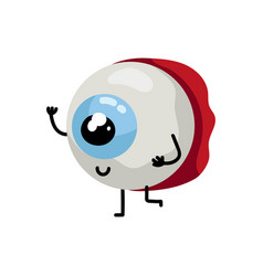 Human eye cute cartoon character vector