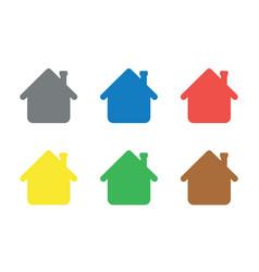 Icon set houses vector