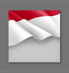Indonesian patriotic festive background template vector