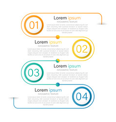 infographic combination 4 option concepts vector image