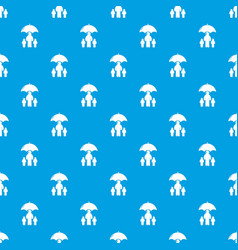 insurance family pattern seamless blue vector image