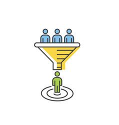 internet marketing conversion concept vector image