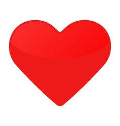 Isolated red heart on a white vector image