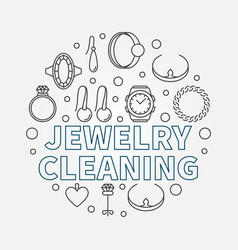 Jewelry cleaning round in vector