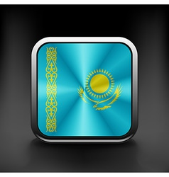 Kazakhstan icon flag national travel icon country vector