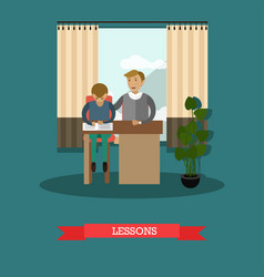 Lessons concept in flat style vector