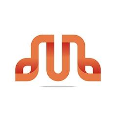 Logo Letter Infinity Alphabet Lettering M Design vector image
