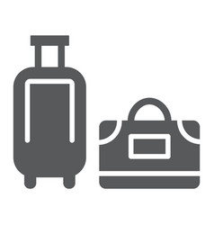 luggage glyph icon travel and baggage suitcase vector image