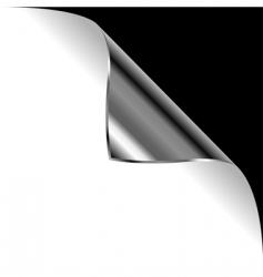 metallic curled corner vector image