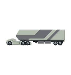 modern trailer truck heavy delivering vehicle vector image