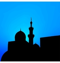 night landscape with beautiful mosques and vector image