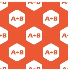 Orange A to B pattern vector