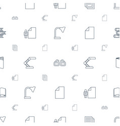 reading icons pattern seamless white background vector image