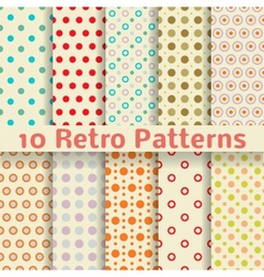 Retro dot seamless patterns tiling vector