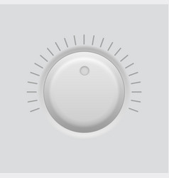 round knob button volume or level selector gray vector image