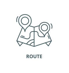 route line icon linear concept outline vector image