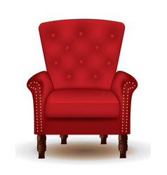 royal red chair vector image