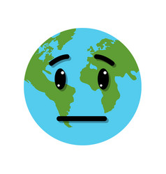 sad planet vector image