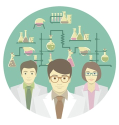 scientists in chemical laboratory vector image