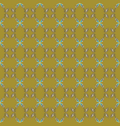 seamless pattern with abstract floral and vector image