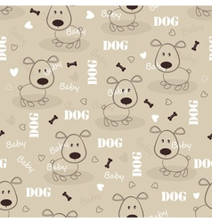 Seamless pattern with dog 2 vector image