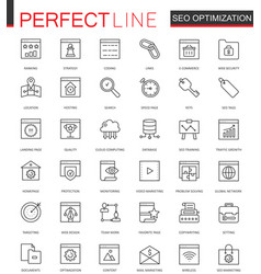 Set of seo search engine optimization thin vector