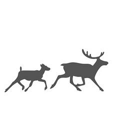 siluetoriginal doodle vector image