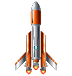 space shuttle launch isolated on white background vector image