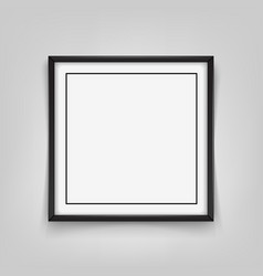 square black frame on grey background vector image