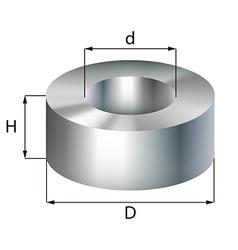 steel ring industrial metal object vector image