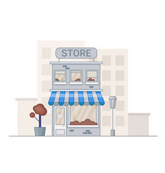 store in cartoon style shope facade vector image