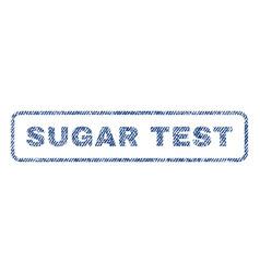 sugar test textile stamp vector image