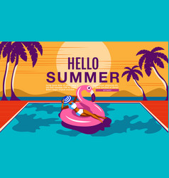 summer holiday poster banner sunshine vector image