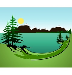 Summer in mountains background vector