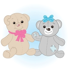 Teddy bears couple vector image