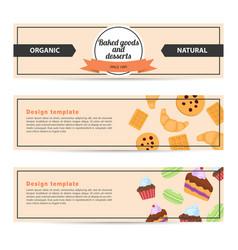 Template design horizontal flyer for baked goods vector