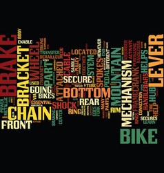 The insides of your mountain bike text background vector