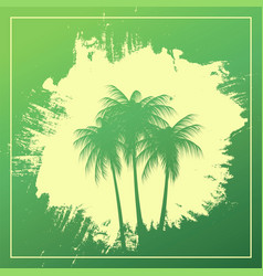 Three palm trees on an abstract background vector