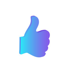 thumb up hand finger gesture isolated icon vector image