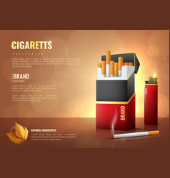 Tobacco products poster vector