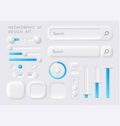 ux ui kit interface buttons sliders set vector image