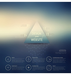 web and mobile interface template Corporate vector image