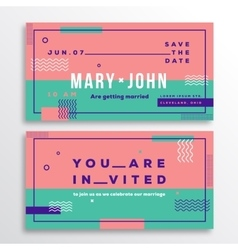 Wedding Invitation Card Template Modern Abstract vector