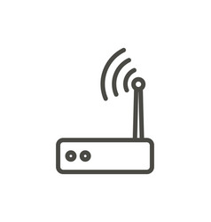 wifi router icon line wireless symbol vector image