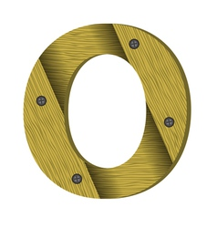 Wood letter O vector
