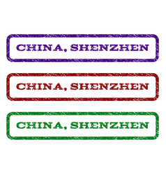 china shenzhen watermark stamp vector image vector image