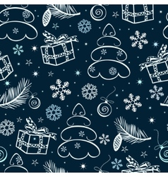 christmas seamless abstract background vector image vector image