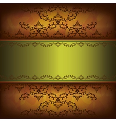Grunge luxury background with decorative ornament vector image