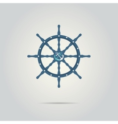 Helm captain isolated icon vector